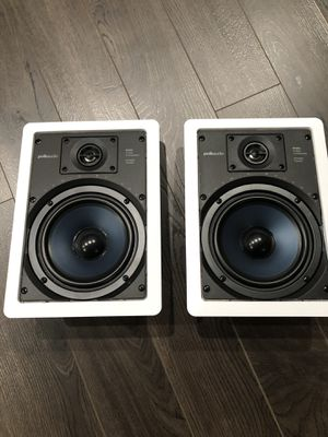 Polk Audio RC65i 2-Way In-Wall Speakers (Pair, White) for Sale in Upland, CA