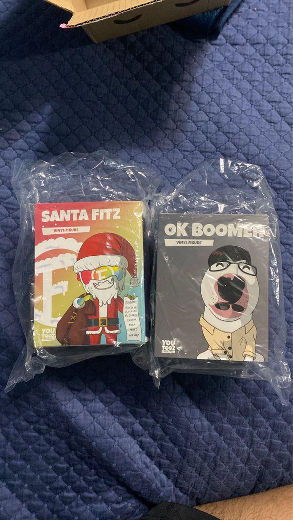 Youtooz figures, ok boomer/Santa fitz