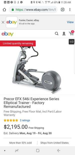 Precor 546i gym quality only used at home elliptical machine for Sale in Riverton, NJ