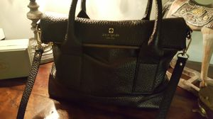 Kate Spade black leather handbag for Sale in Aurora, IL