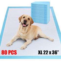 "New $30 Extra Large (80 pcs) Dog Pet Training Pads Unscented for Puppy Dogs, 22""x36"" for Sale in Whittier,  CA"