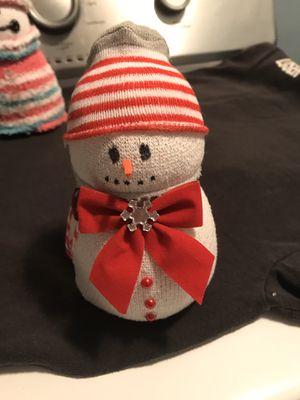 Christmas sock snowman for Sale in Barboursville, WV