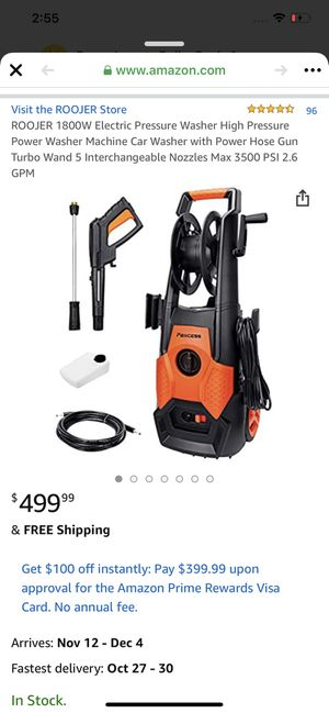 Electric pressure washer, brand new, never opened for Sale in Charlotte, NC