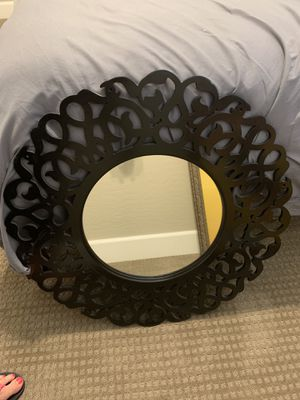 Black circular wall mirror for Sale in Phoenix, AZ
