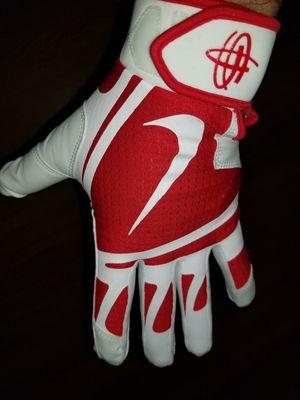 Brand New Nike Huarache Edge Red White Baseball Batting gloves Adult Medium for Sale in West Covina, CA