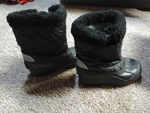 Kids black snow boots SZ 12 for Sale in Walkersville, MD