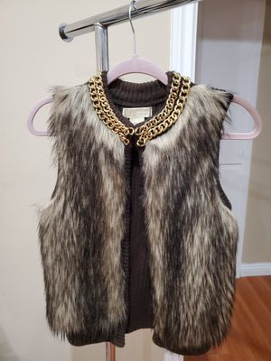 Michael Kors Chocolate Faux Fur Vest, Petite/Small for Sale in Los Angeles, CA