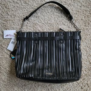 $128 Jessica Simpson Becca Hobo Handbag Double Chain Accents and On Strap Black for Sale in Gig Harbor, WA