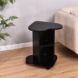 Brand New Black Heart Shaped Side Table On Wheels for Sale in Los Angeles,  CA