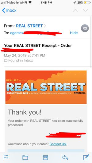 Real street fest ticket for Sale in Westminster, CA