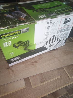 Greenworks Pro Chainsaw for Sale in Brooksville, FL