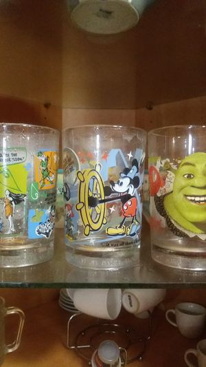 Three beautiful Disney McDonald's collection glass cups for Sale in Hialeah, FL