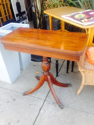Side table folds out to small dining table solid wood for Sale in San Diego, CA