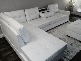 🤞🤞$39 Down Payment. 👈 SPECIAL] Pablo White Sectional | U5300 for Sale in Washington,  DC