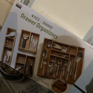 New Bamboo Drawer Organizer. Retail $38 Costco. for Sale in Vancouver, WA