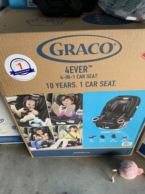 Graco 4 in 1 convertible Car Seat dun woody Brand new in box warranty for Sale in Corona, CA