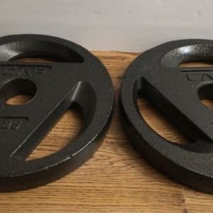 Weights Olympic 2 inch 25lb plates (per set) for Sale in Covina, CA