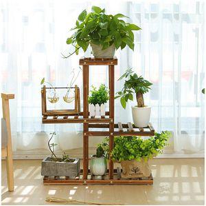 4 Tier Wooden Plant Stand Shelf Garden Indoor or Outdoor for Sale in ROWLAND HGHTS, CA