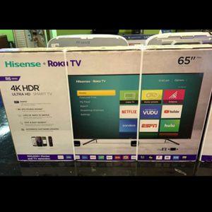 65 INCH HISENSE 4K HISENSE SMART TV ROKU HDR BRAND NEW for Sale in Orange, CA