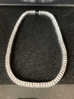 """New 24"""" Mens/women's CZ stone 14K White Gold plated Necklace for Sale in New York, NY"""