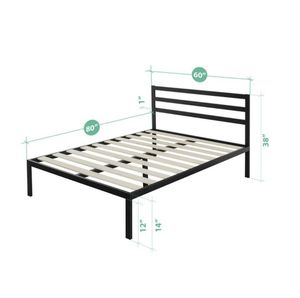 Modern studio black Queen Platform Bed for Sale in South Riding, VA