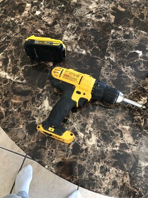 Dewalt 20 volt drill with battery $45 for Sale in Vancouver, WA