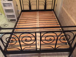 Bed Frame with free box spring. Double/ 53 inches for Sale in Northbrook, IL