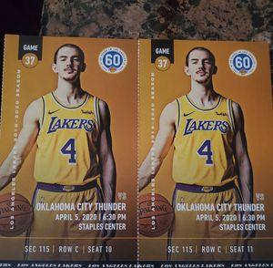 2 lakers tickets for Sale in La Habra, CA