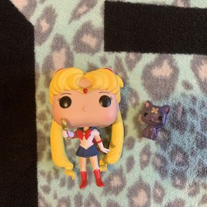 Sailor Moon and Luna Funko Pop Out of Box for Sale in Los Angeles, CA