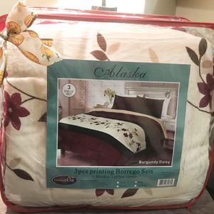 king blanket with 2 matching pillow covers for Sale in Orange, CA