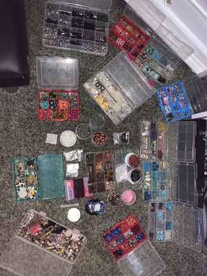 Assorted Bead lot with containers for Sale in Salinas, CA