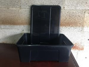 4 Ikea plastic containers with lids all in black for Sale in HALNDLE BCH, FL
