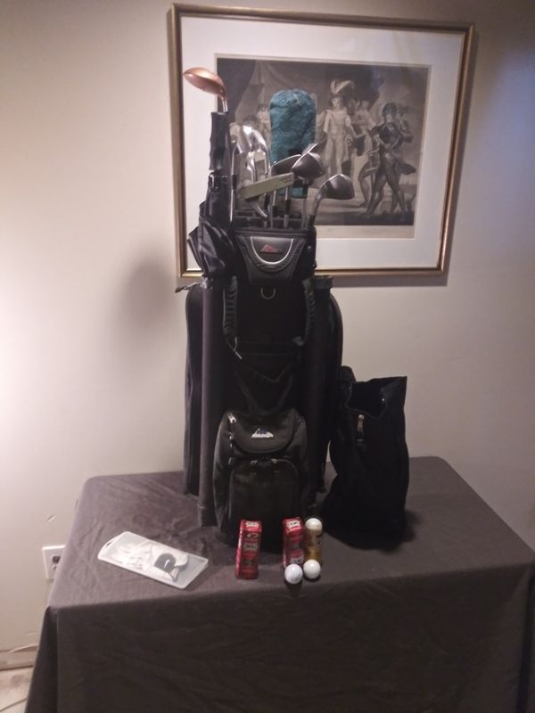 Golf Bag & Clubs with glove and balls
