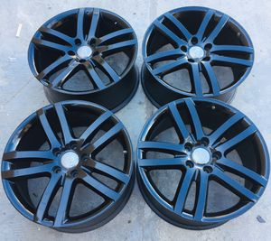 "OEM 20"" inch Audi Q7 VW Volkswagen Touareg Wheels Rims Rines Black Gloss TPMS for Sale in Chula Vista, CA"