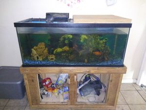 Fish tank with stand 100 gallon for Sale in St Louis, MO
