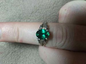 Sterling silver emerald ring for Sale in Centralia, WA