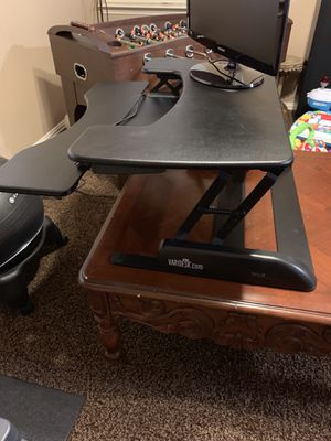 VariDesk ProPlus and Gaiam Ball Chair for Sale in Garland, TX