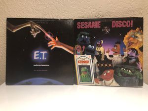 E.T Soundtrack and Sesame Disco records vintage for Sale in San Jose, CA