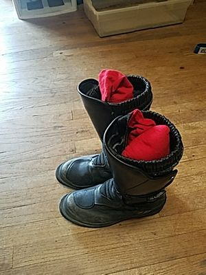 BMW motorcycle boots size 39 Vera gomma for Sale in San Diego, CA
