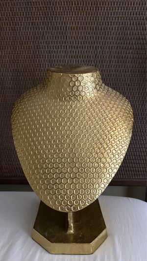 Gold Mannequin / Necklace Display Holder for Sale in San Diego, CA