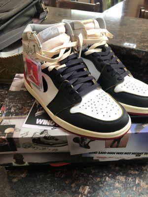 Air Jordan retro 1 Union black toe for Sale in Winfield, IL
