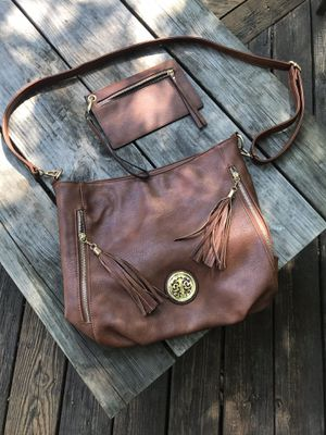 Faux Leather Brown Purse for Sale in Fairfax, VA
