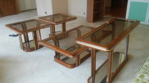 4 piece glass top end tables, coffee table, and sofa table. Excellent condition. 150.00 obo for Sale in Overgaard, AZ