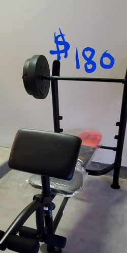 WEIGHTS, BENCH, BAR, ARM & LEG EXERCISE ATTACHMENTS: EVERYTHING INCLUDED! for Sale in Escondido,  CA