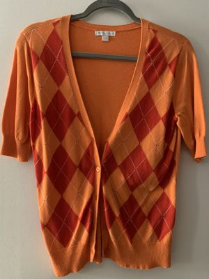 Orange Short Sleeved Cardigan (Size: Medium) for Sale in New Milford, CT