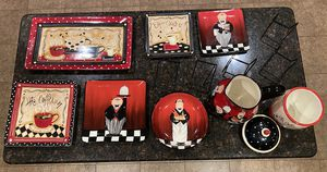 Ceramic decorative plates/bowl, pitcher and cookie jar. for Sale in Rockwall, TX