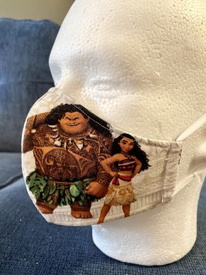 Handmade Mask for Kids Disney Characters . Moana . Thinker Bell . Mulan . Princesses. 100% Cotton. Reusable. Preventive. 5 Layers . Filter . for Sale in Orlando, FL
