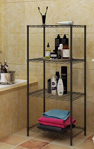 """Shelving 4 Shelves Unit Metal Storage Rack Durable Organizer Perfect for Pantry Closet Kitchen Laundry Organization in Gray, 21 """"Wx14"""" Dx46.5 """"H for Sale in Ontario, CA"""