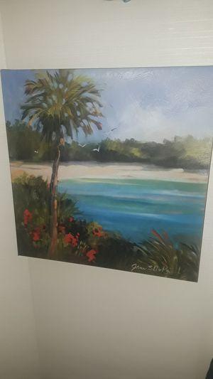 Beach scene canvas picture. for Sale in Sun City, AZ