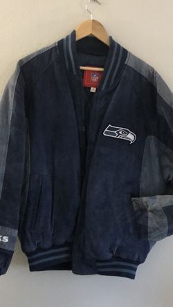 Genuine Leather Seahawks Bomber Jacket Sz M for Sale in Bothell,  WA